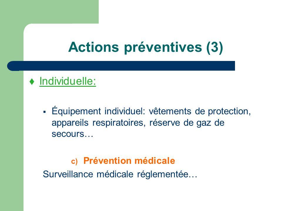Actions préventives (3)