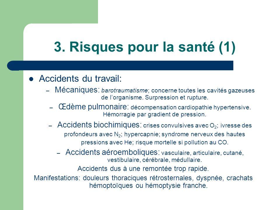 3. Risques pour la santé (1)