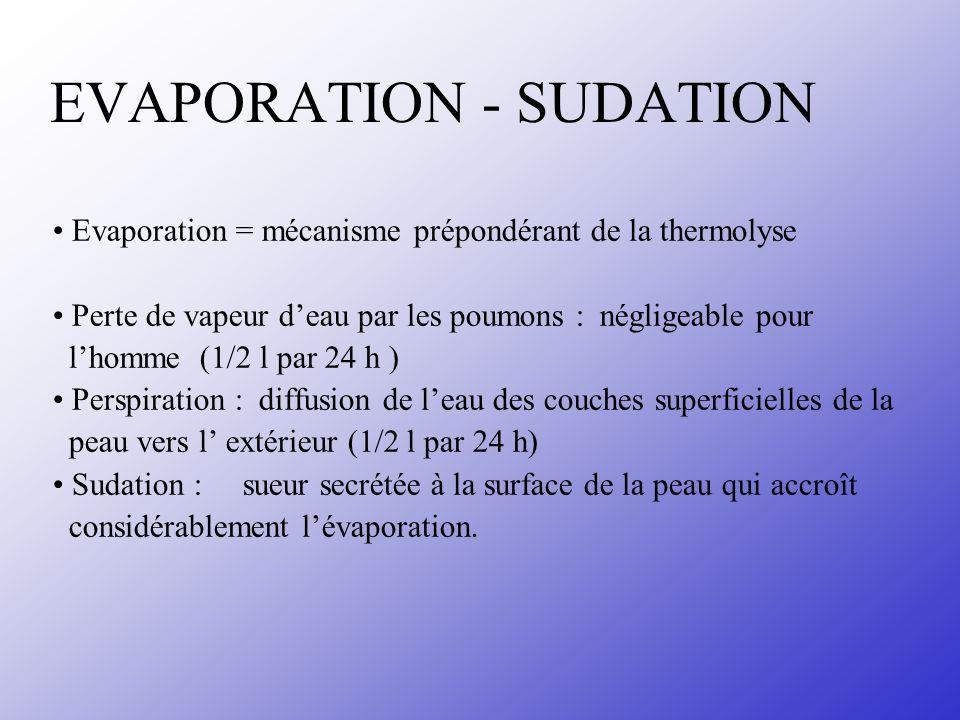 EVAPORATION - SUDATION