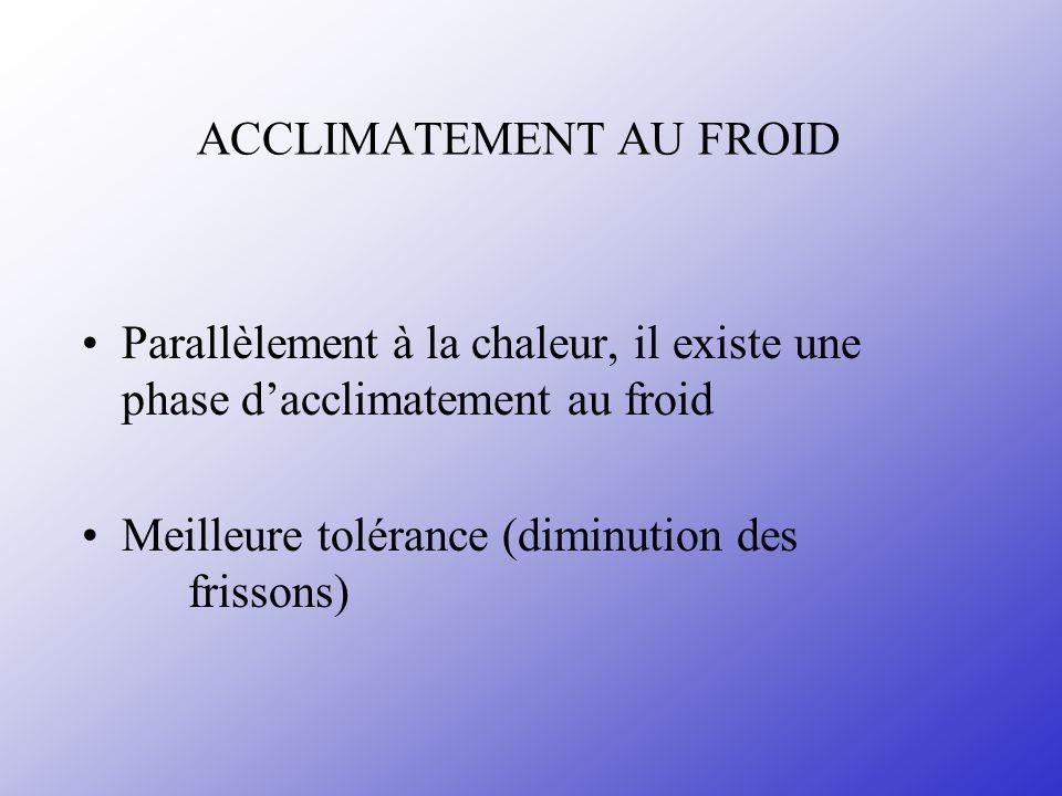 ACCLIMATEMENT AU FROID