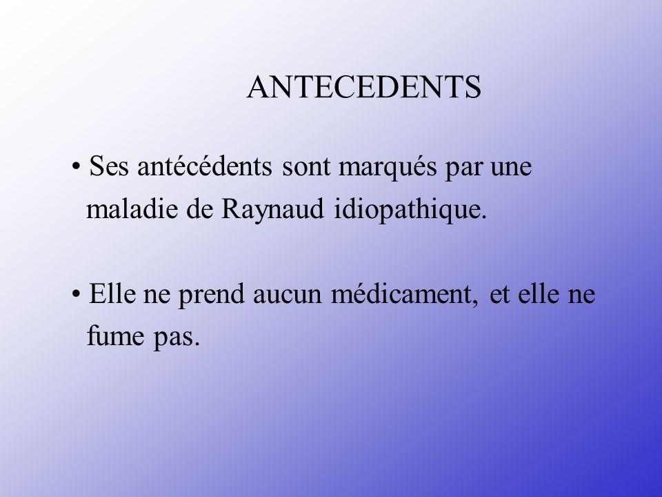 ANTECEDENTS • Ses antécédents sont marqués par une