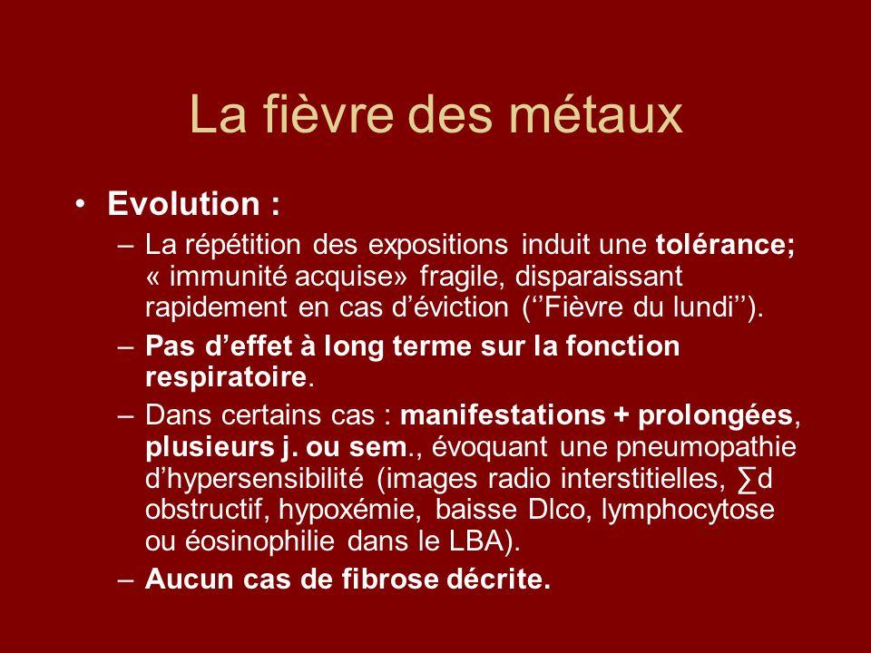 La fièvre des métaux Evolution :