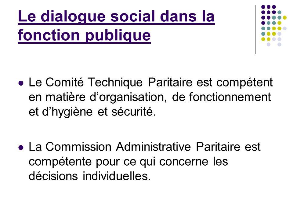 Le dialogue social dans la fonction publique