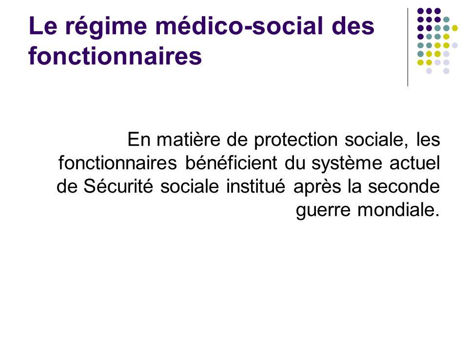 Le régime médico-social des fonctionnaires