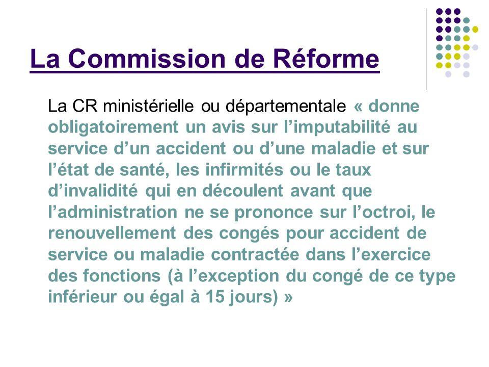 La Commission de Réforme