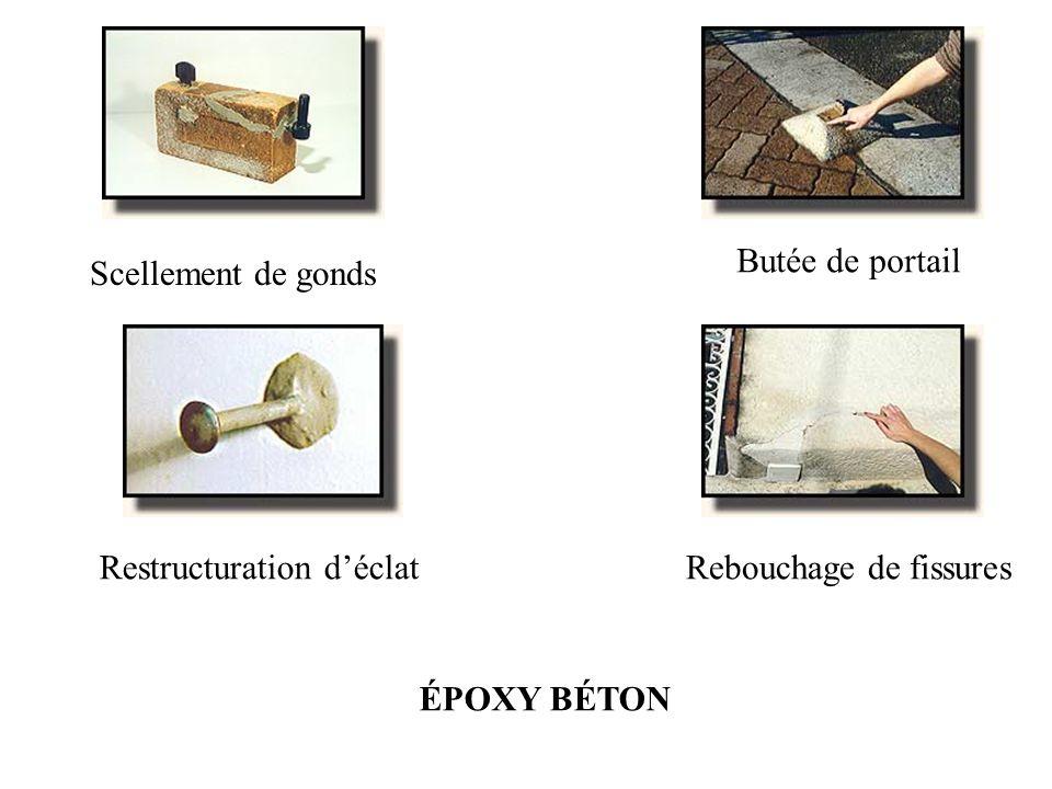 Butée de portail Scellement de gonds Restructuration d'éclat Rebouchage de fissures ÉPOXY BÉTON