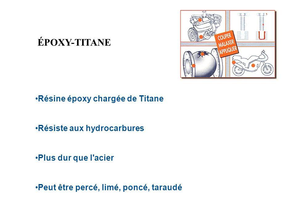 ÉPOXY-TITANE Résine époxy chargée de Titane Résiste aux hydrocarbures