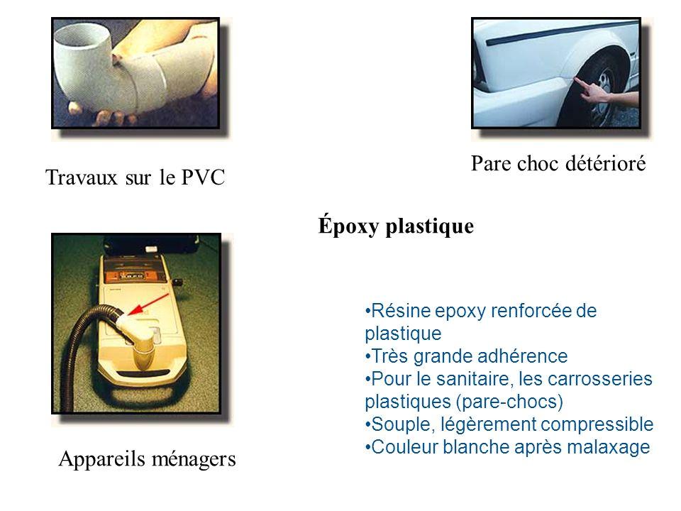 Pare choc détérioré Travaux sur le PVC Époxy plastique