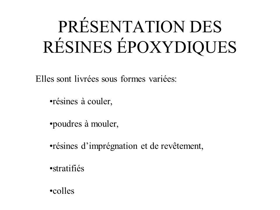 PRÉSENTATION DES RÉSINES ÉPOXYDIQUES