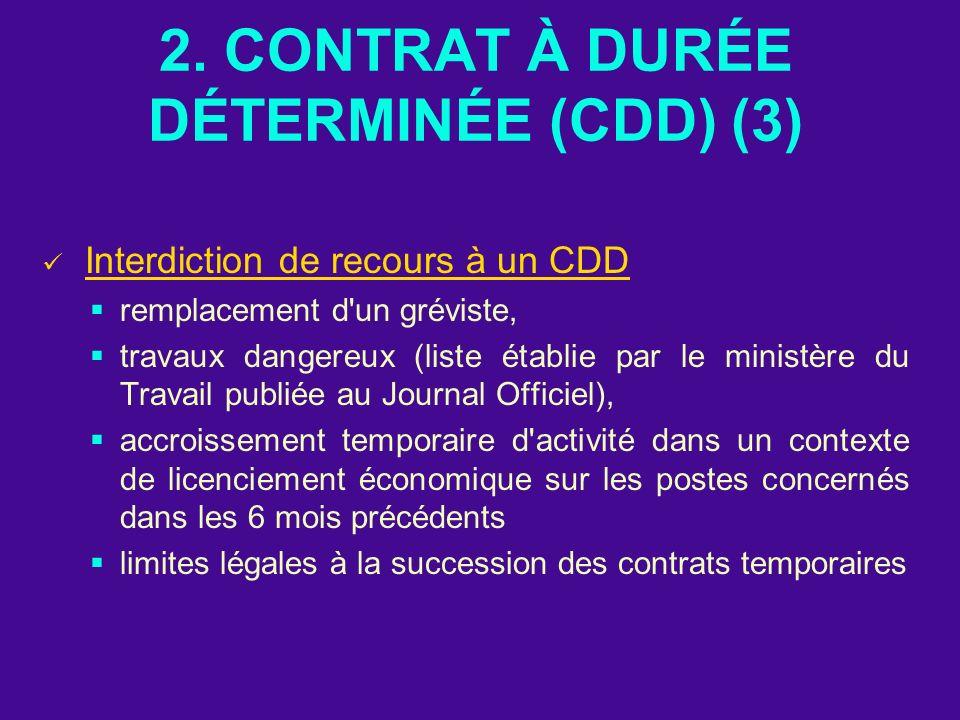 2. CONTRAT À DURÉE DÉTERMINÉE (CDD) (3)