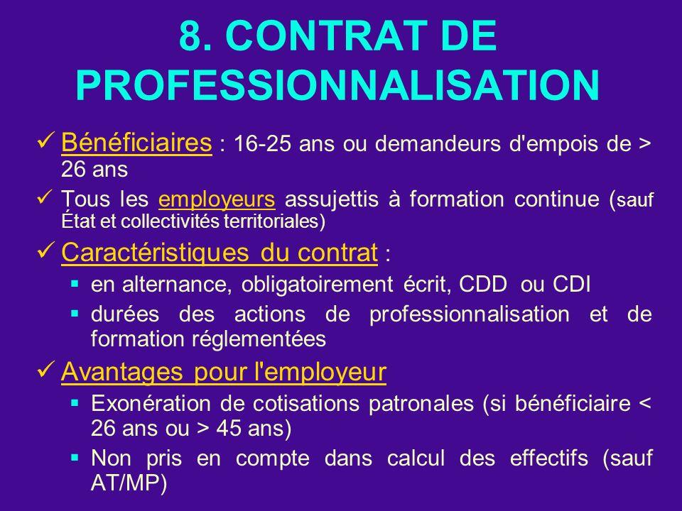 8. CONTRAT DE PROFESSIONNALISATION