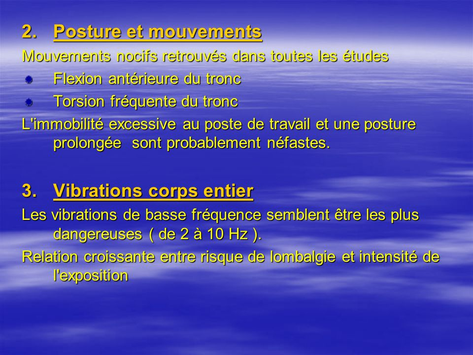 Vibrations corps entier