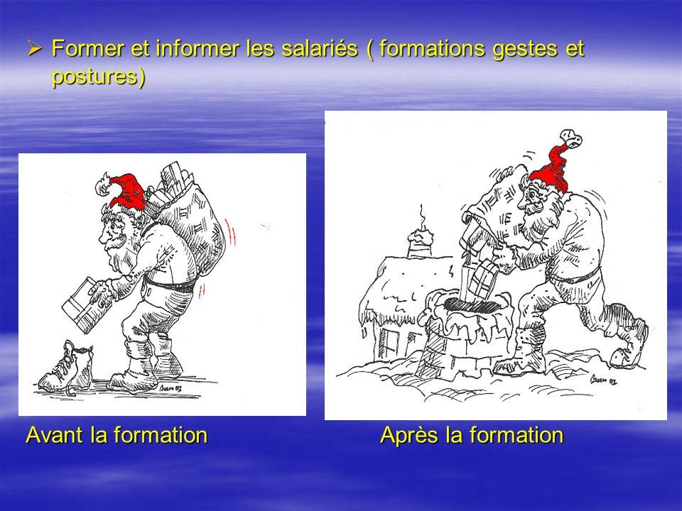 Former et informer les salariés ( formations gestes et postures)