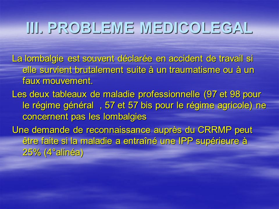III. PROBLEME MEDICOLEGAL