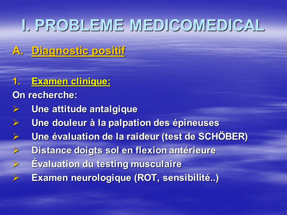 I. PROBLEME MEDICOMEDICAL