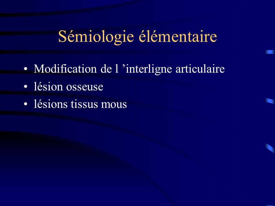 Sémiologie élémentaire
