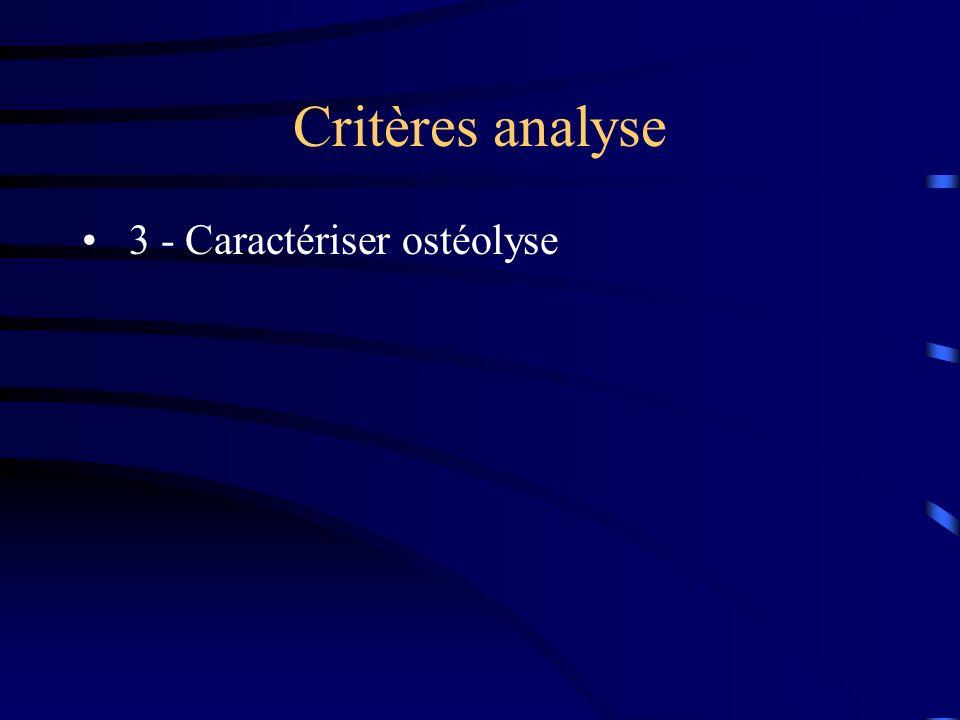 Critères analyse 3 - Caractériser ostéolyse