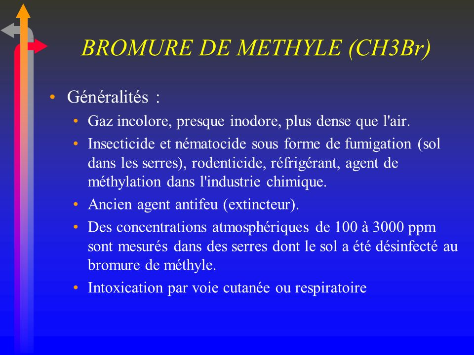 BROMURE DE METHYLE (CH3Br)