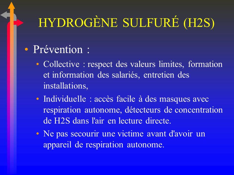 HYDROGÈNE SULFURÉ (H2S)