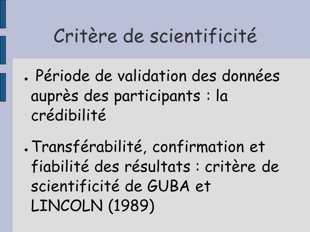 Critère de scientificité
