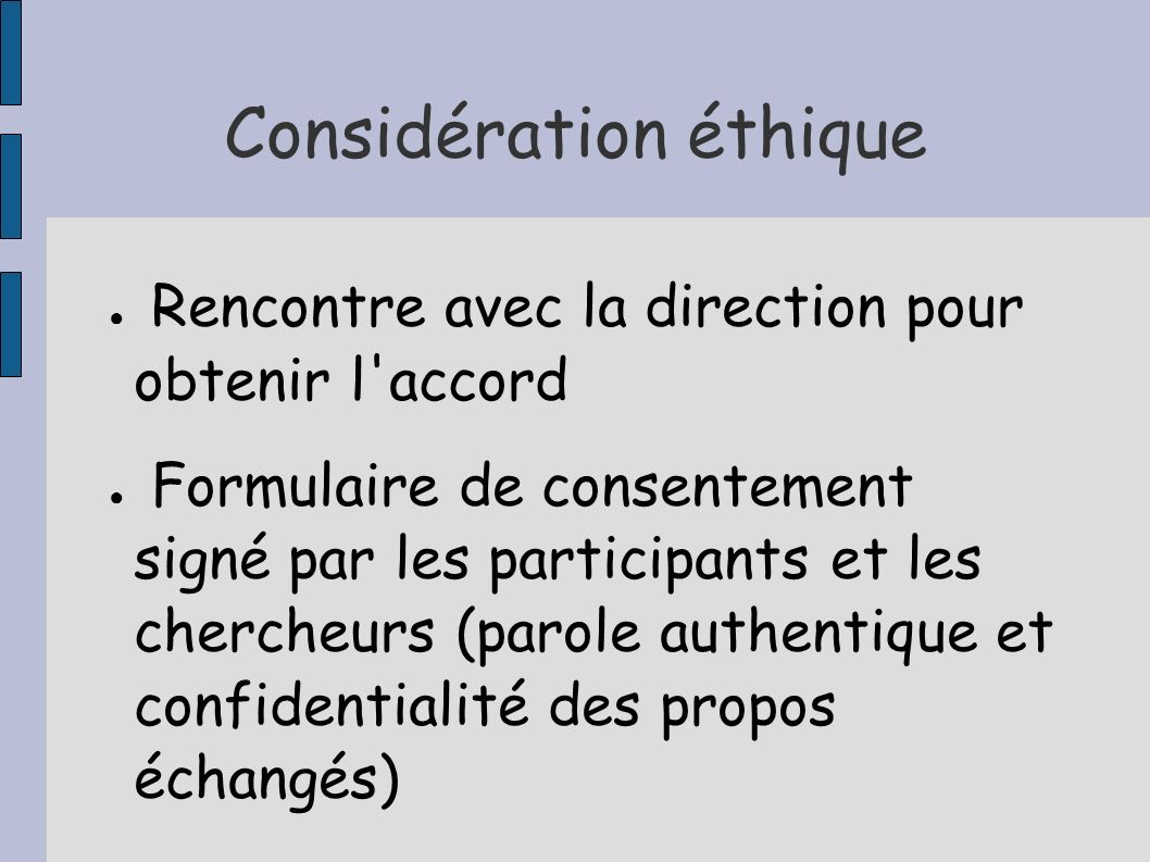 Considération éthique