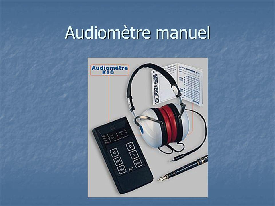 Audiomètre manuel