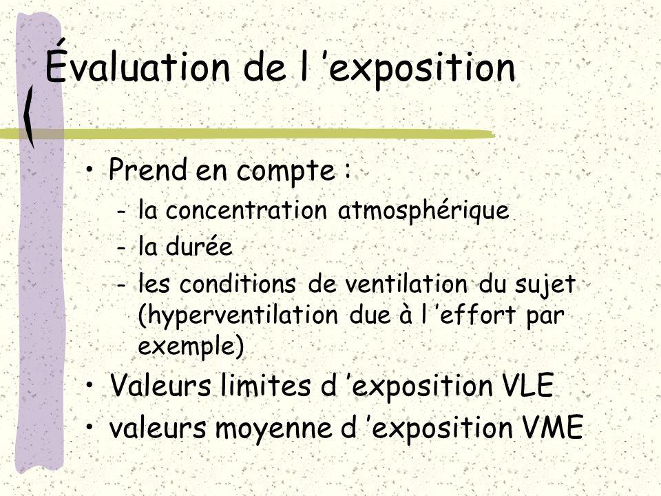 Évaluation de l 'exposition