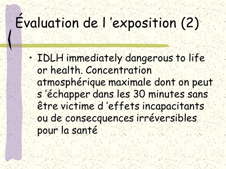 Évaluation de l 'exposition (2)