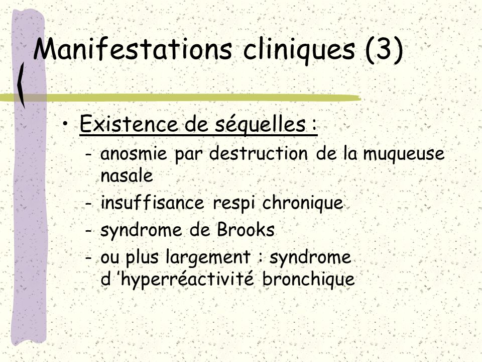 Manifestations cliniques (3)