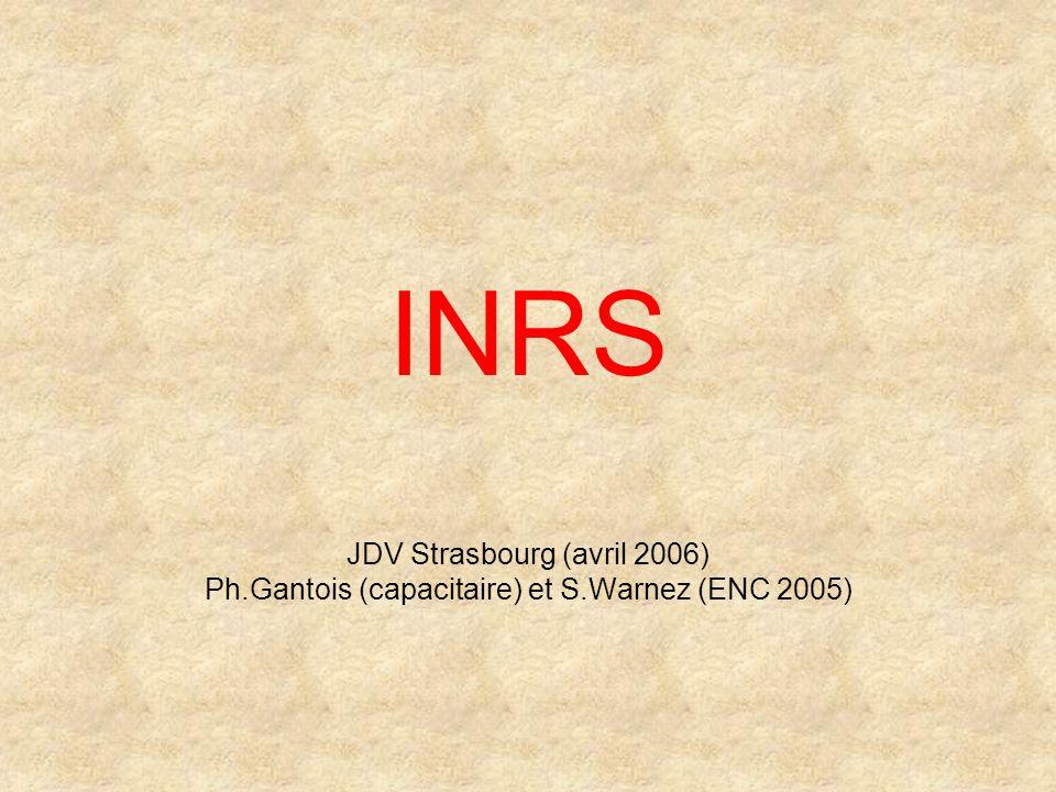 INRS JDV Strasbourg (avril 2006)