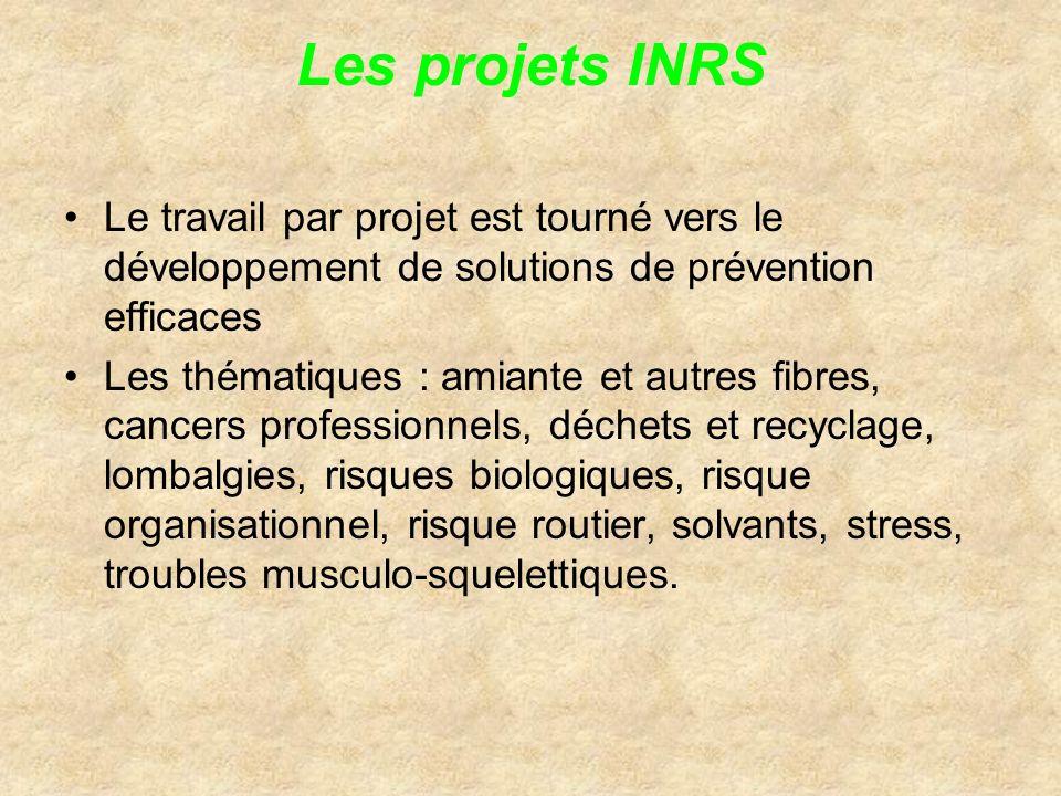 Les projets INRS Le travail par projet est tourné vers le développement de solutions de prévention efficaces.