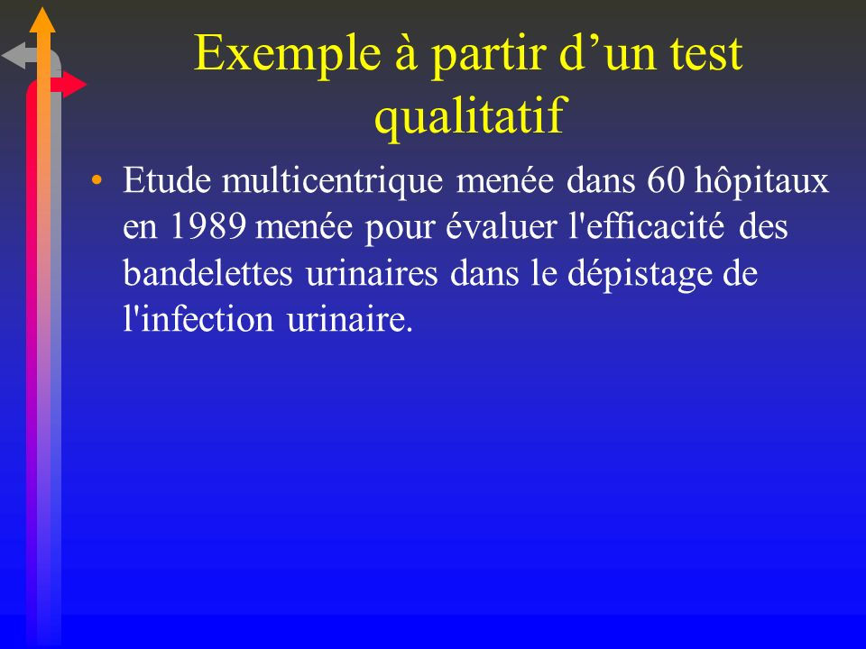 Exemple à partir d'un test qualitatif