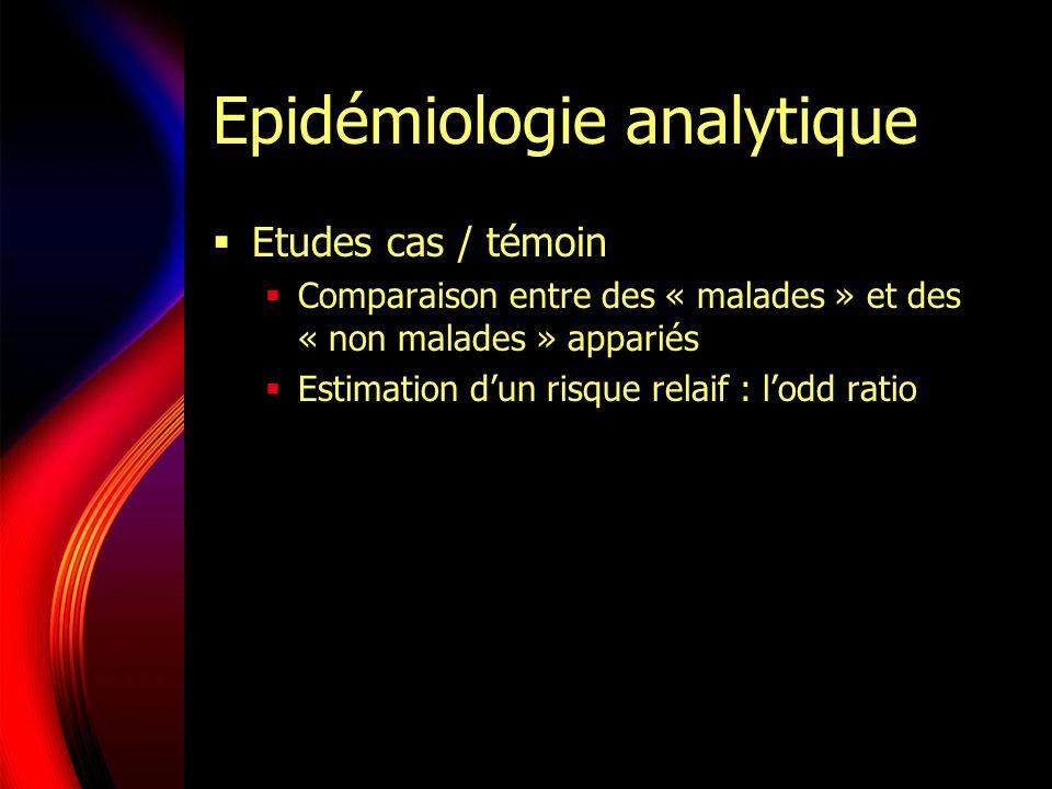 Epidémiologie analytique