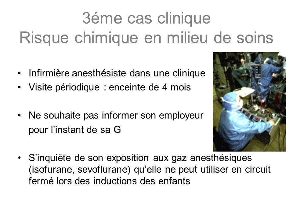 3éme cas clinique Risque chimique en milieu de soins