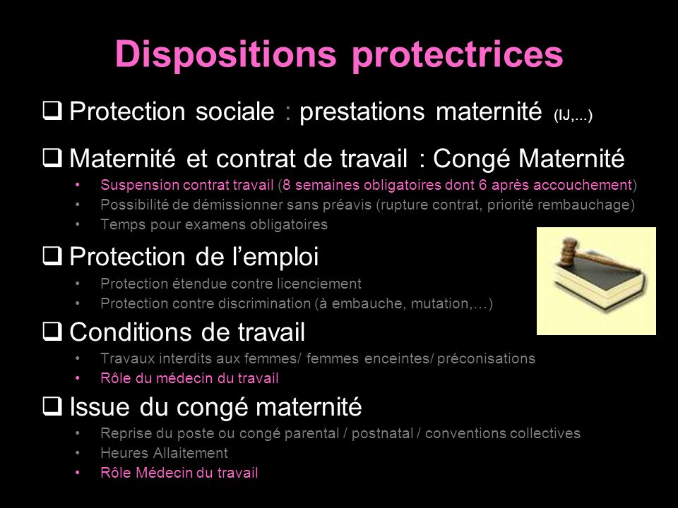Dispositions protectrices
