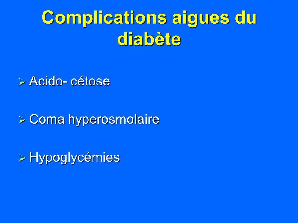 Complications aigues du diabète