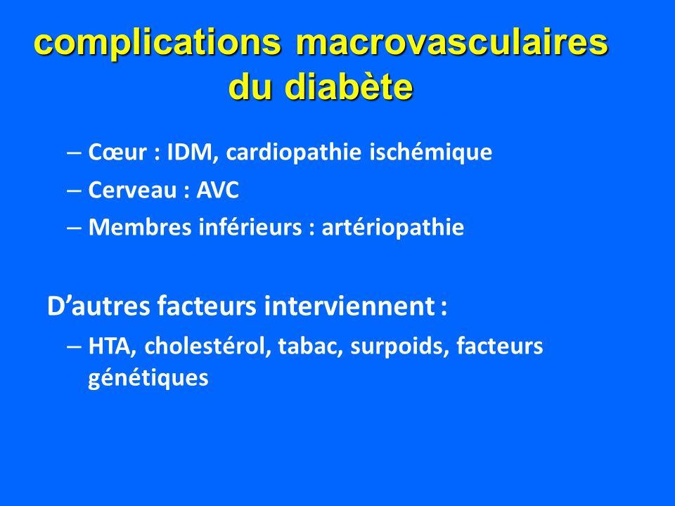 complications macrovasculaires du diabète
