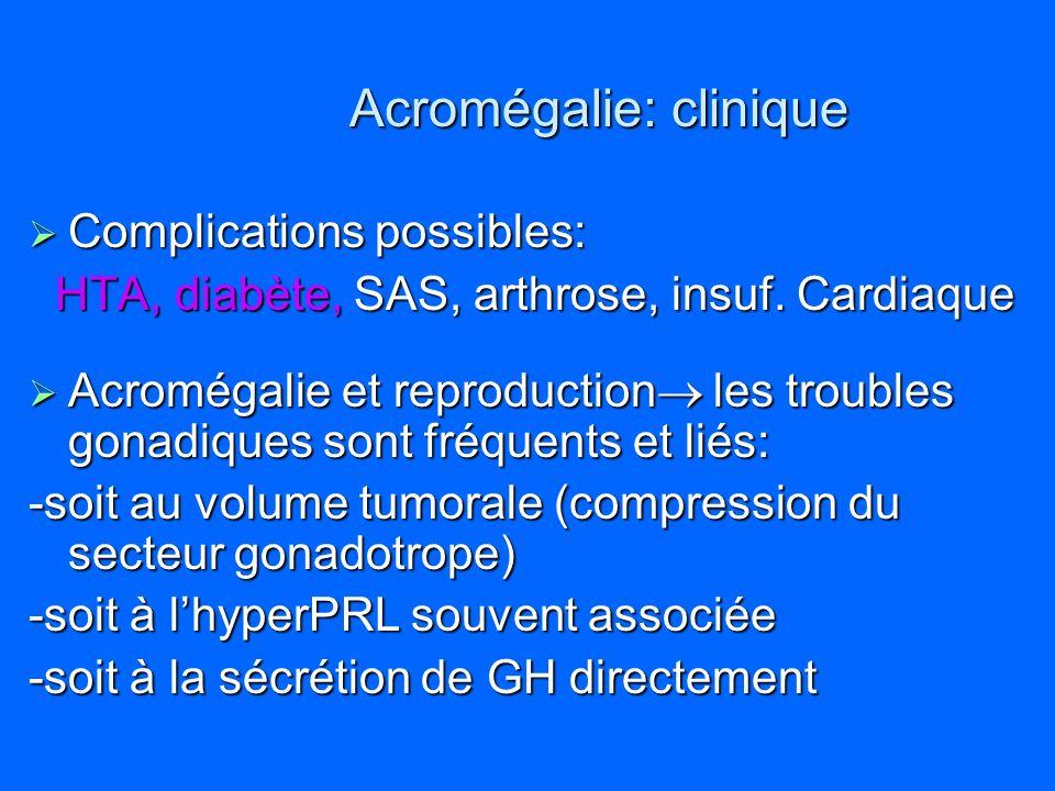 Acromégalie: clinique