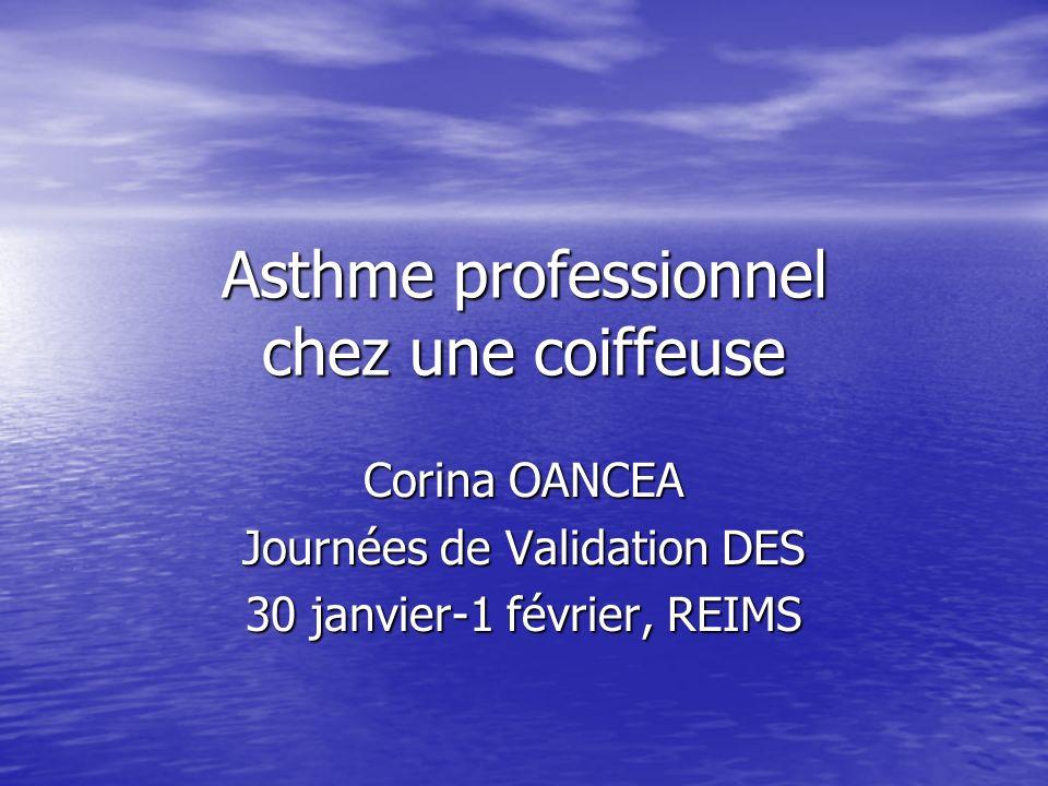 Asthme professionnel chez une coiffeuse