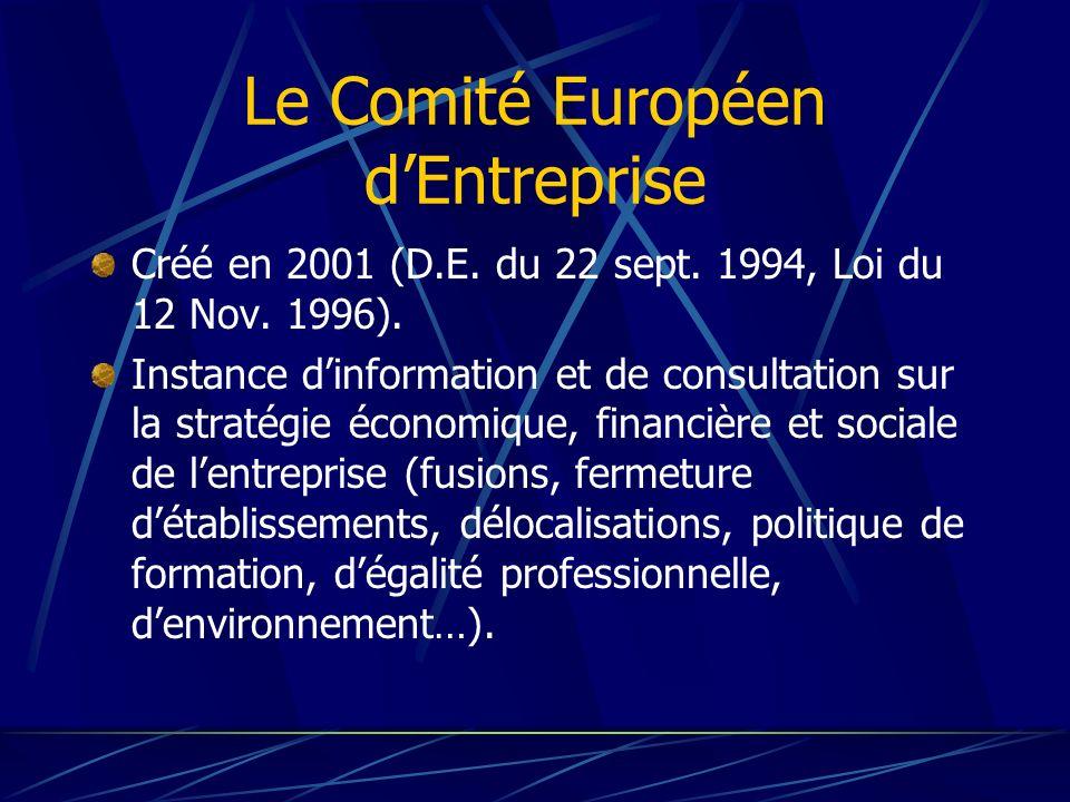 Le Comité Européen d'Entreprise