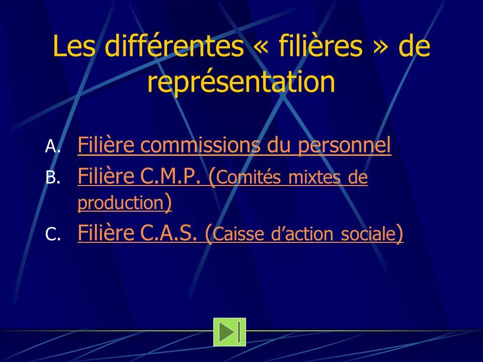 Les différentes « filières » de représentation