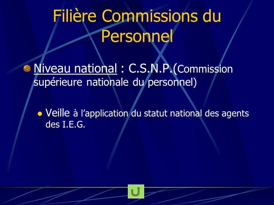 Filière Commissions du Personnel