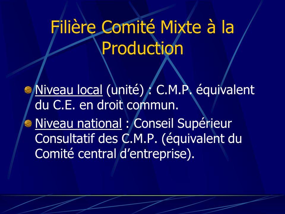 Filière Comité Mixte à la Production