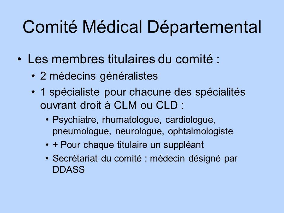 Comité Médical Départemental