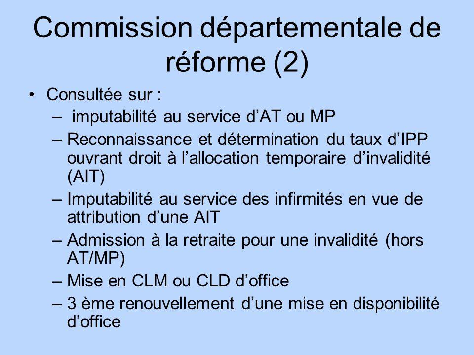 Commission départementale de réforme (2)