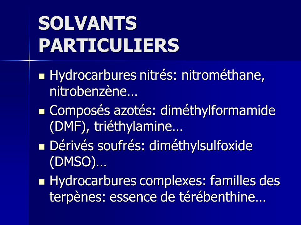SOLVANTS PARTICULIERS