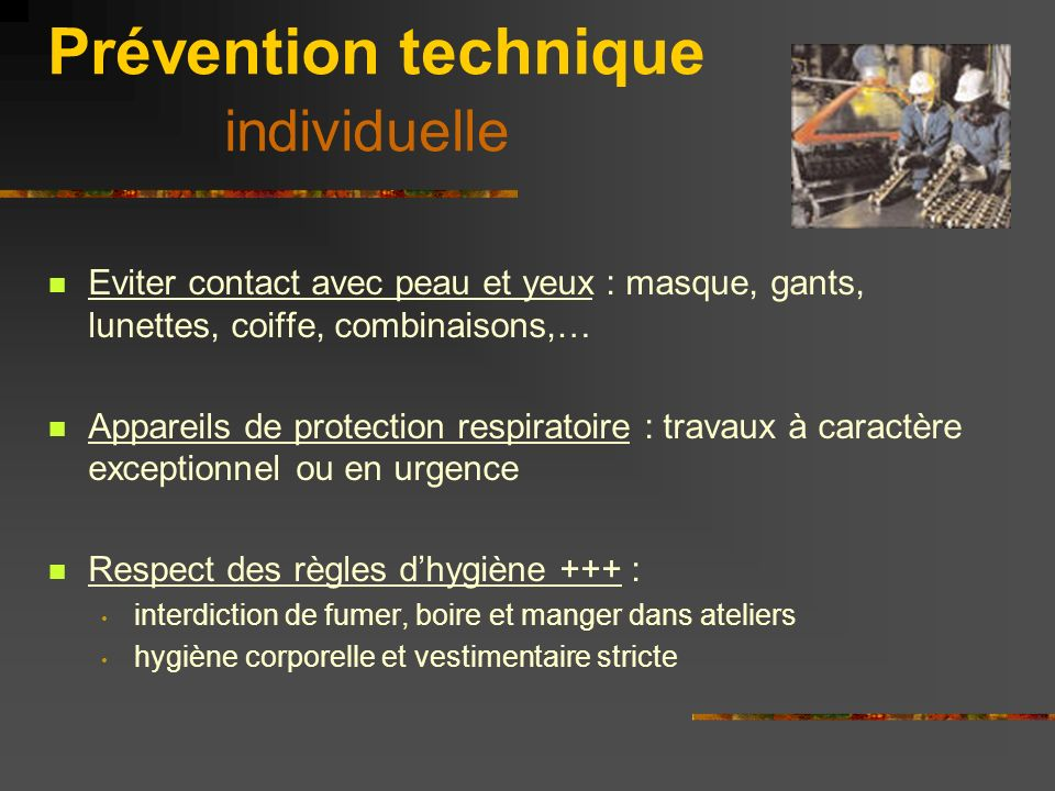 Prévention technique individuelle
