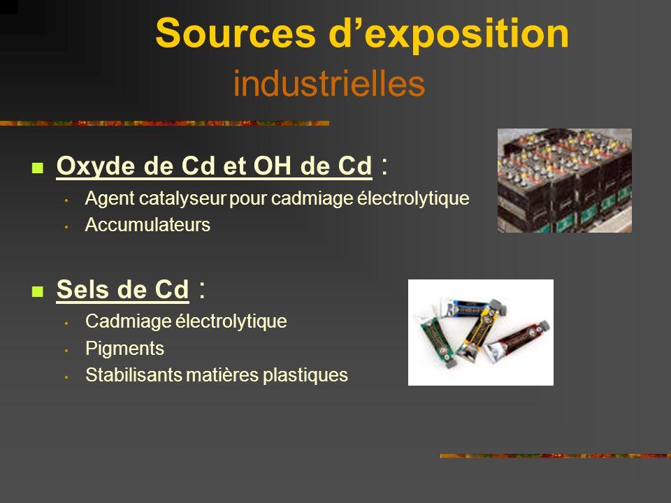 Sources d'exposition industrielles
