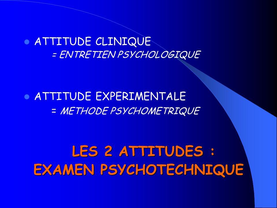 EXAMEN PSYCHOTECHNIQUE