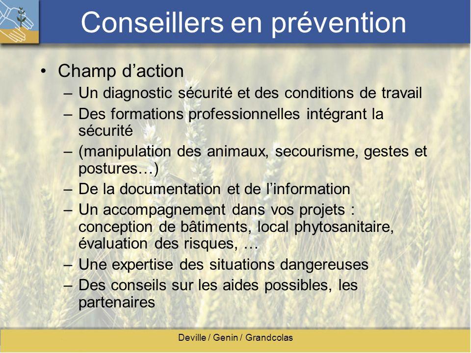 Conseillers en prévention